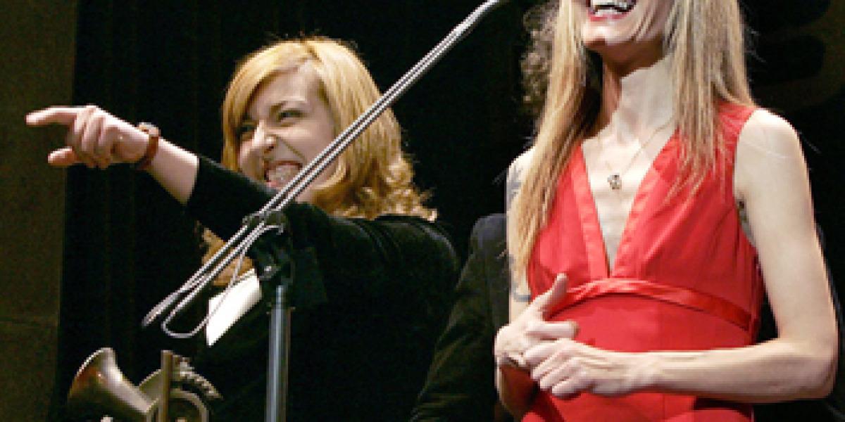 Las hermanas Llanos en la entrega de los XI Premios de la Musica