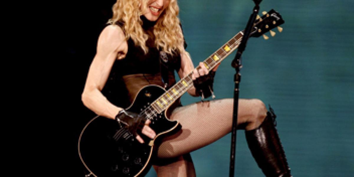 Madonna durante su actuación en Cheste (Valencia)