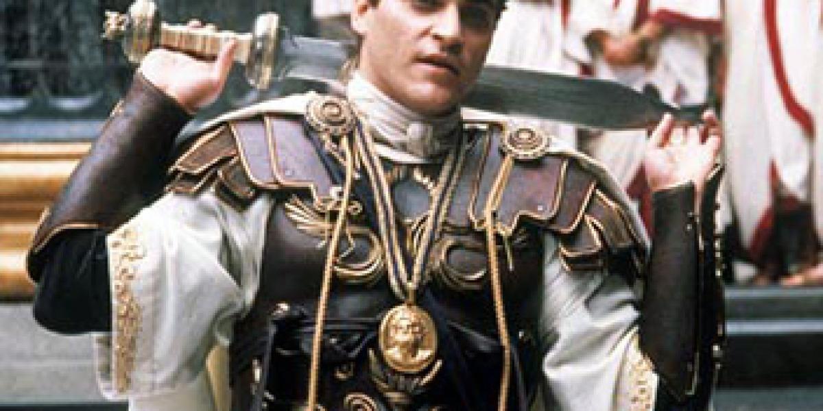 Joaquin Phoenix durante la película Gladiator