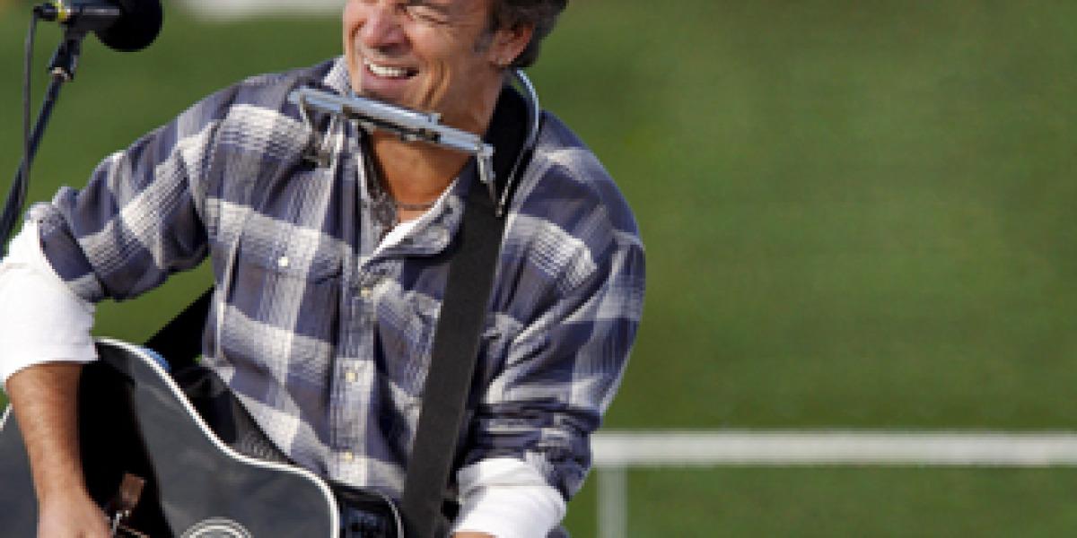 Bruce Springsteen durante una actuación