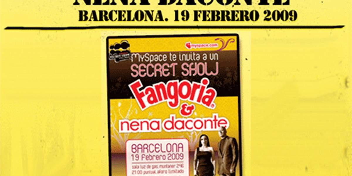 Cartel del Secret Show con Fangoria y Nena Daconte