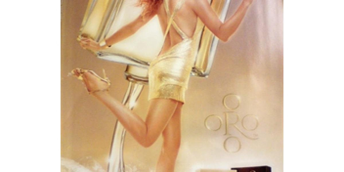 Imagen promocional del perfume de Paulina: Oro.