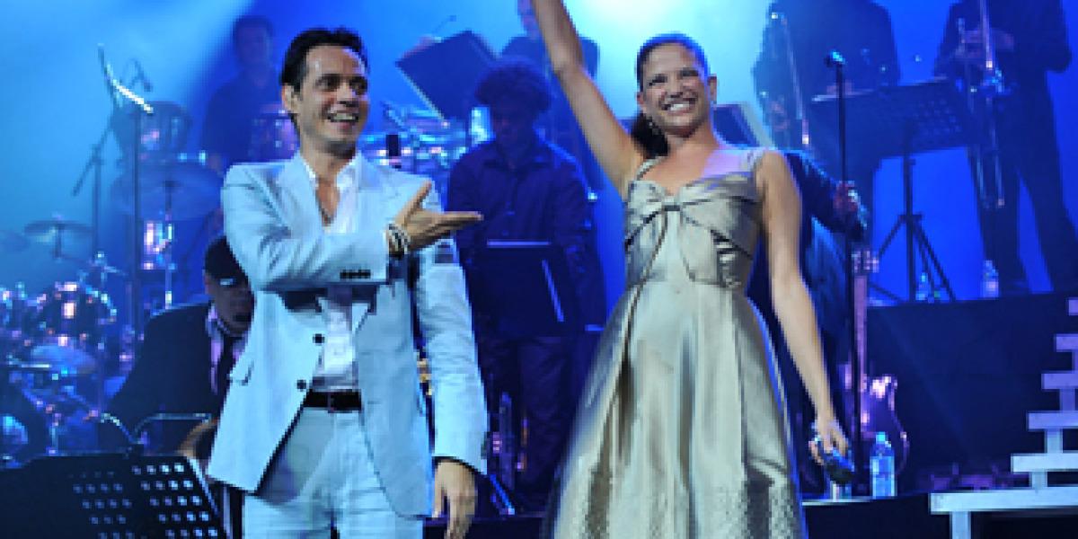 Natalia Jiménez junto a Marc Anthony