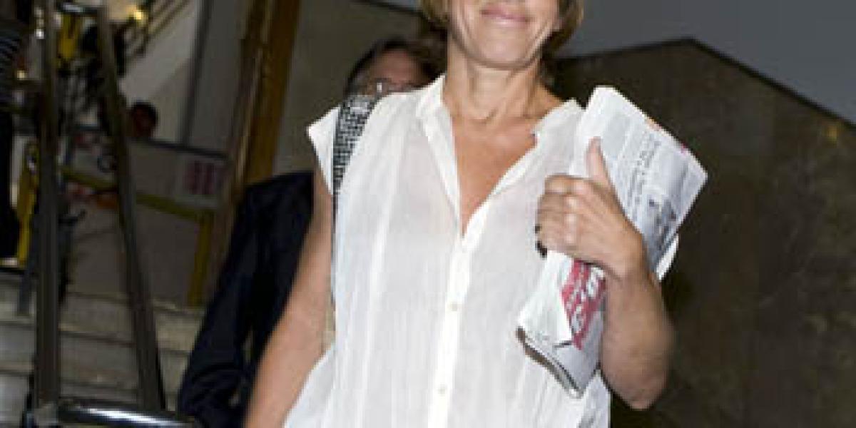 Ana Torroja a la llegada del Juzgado de Instrucción nº 7  de Palma