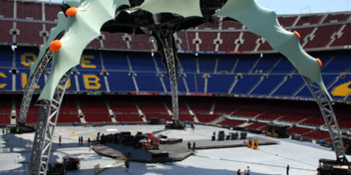 Escenario del próximo concierto de U2 en el Camp Nou