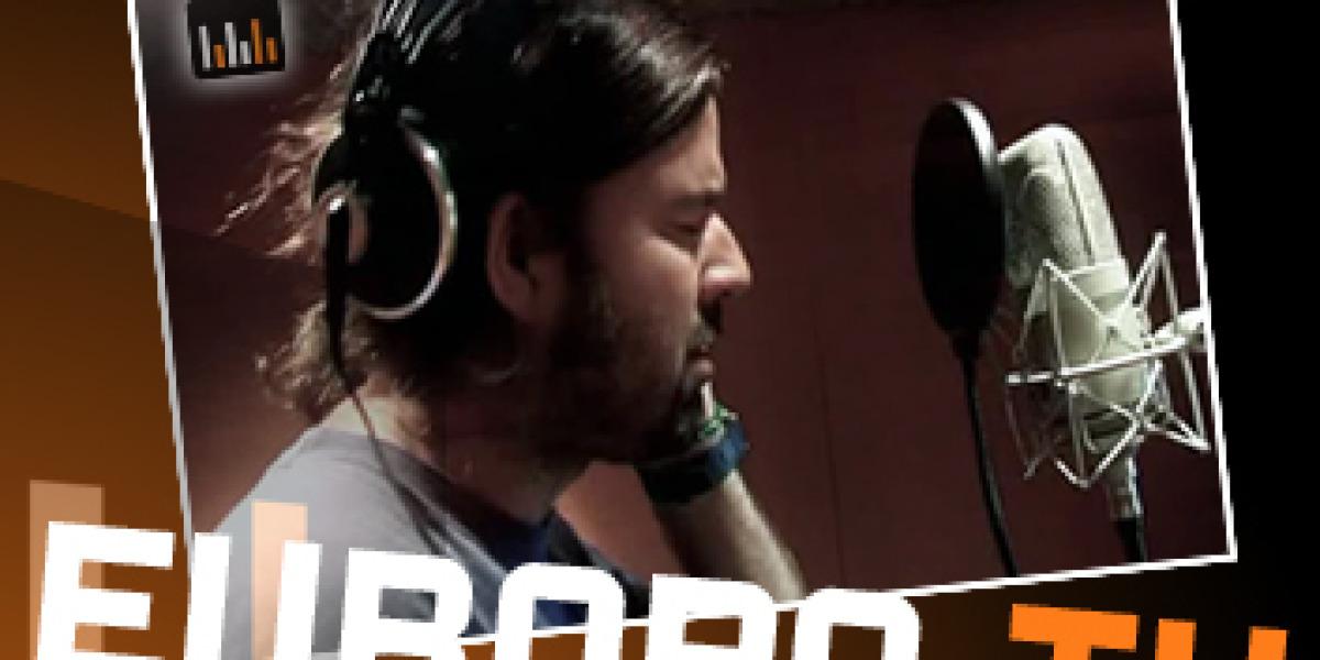 Pau Donés durante la grabación en los estudios Musiclan.