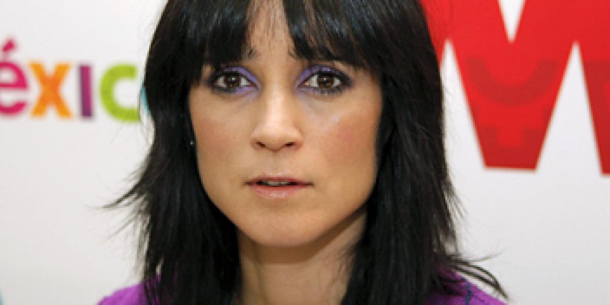 Julieta Venegas en la presentación de la gira