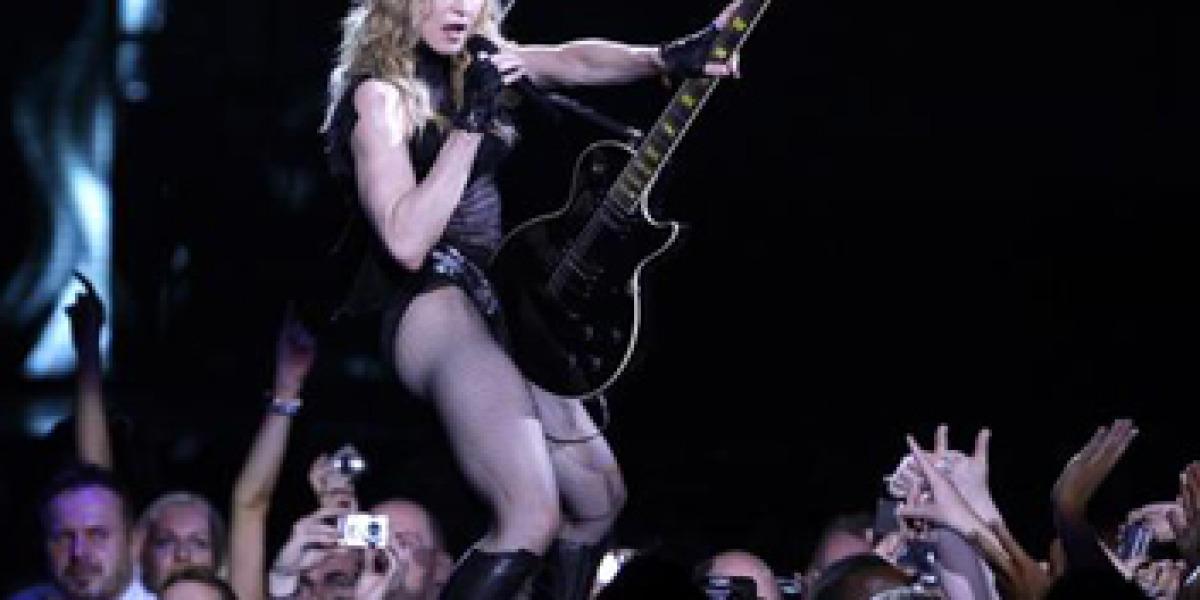 Madonna en su última actuación en el O2 Arena.