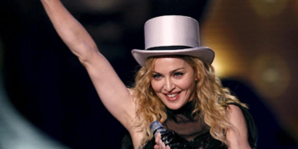 Madonna con su Sticky & Sweet Tour en Madrid