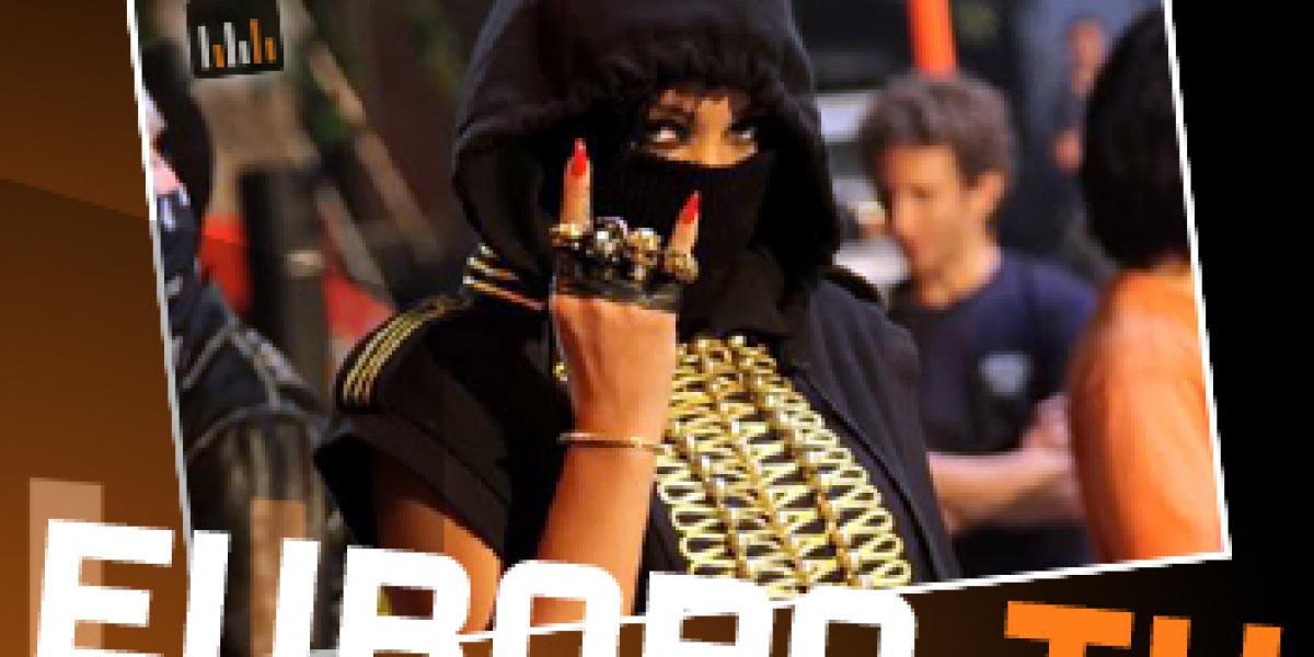 Rihanna en el videoclip de Run this town