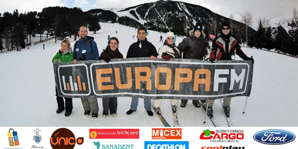 Esquiada para principiantes Europa FM en Logroño