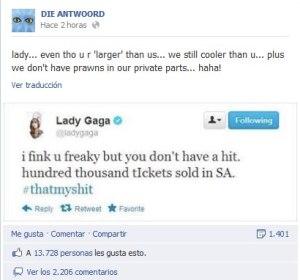 Guerra entre Lady gaga y Die Antwoord