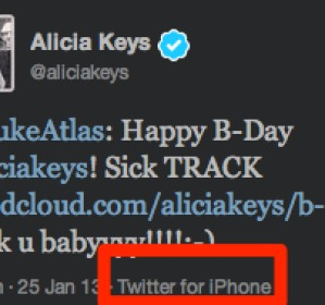 Alicia keys desde iPhone