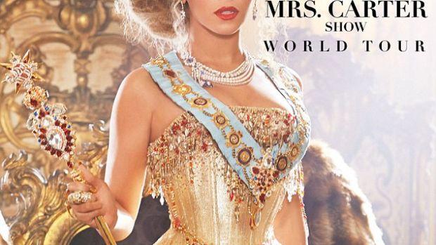 Beyoncé, en el cartel de presentación de su gira