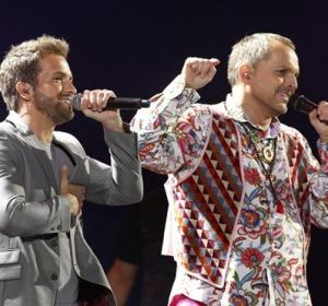 Pablo Alborán y Miguel Bosé en el festival Viña del Mar