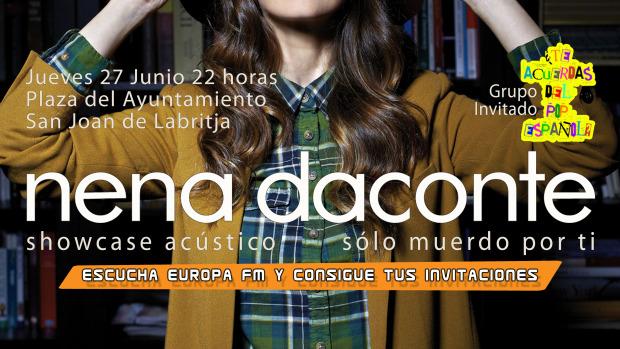 Showcase en acústico de Nena Daconte en Ibiza