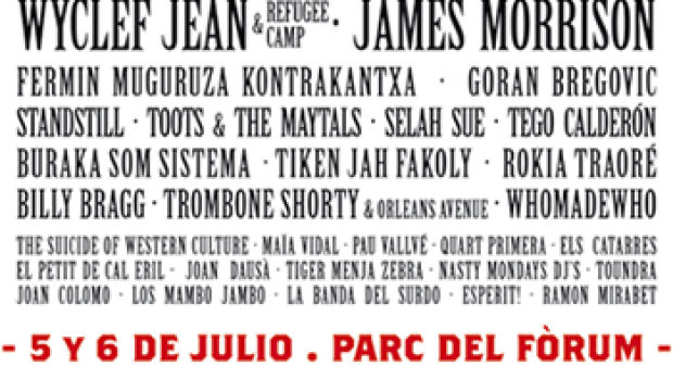 Cartel del festival Cruïlla 2013