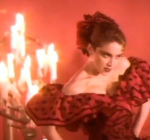 Madonna vestida de flamenca en 'La isla bonita'