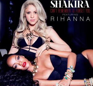 Shakira y Rihanna en 'Can't remember to forget you'