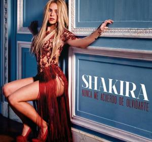 Portada oficial del sencillo: 'Nunca Me Acuerdo de Olvidarte' de Shakira
