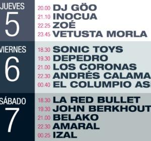 Los horarios del Tres Sesenta Festival