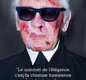 Karl Lagerfeld torturado en la campaña de Aministía Internacional