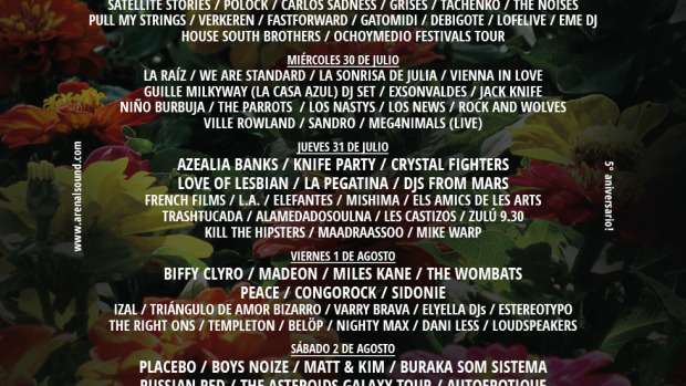 Cartel de Arenal Sound 2014