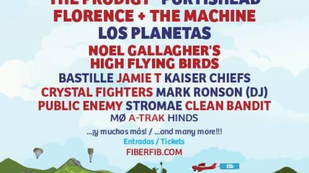 Cartel actualizado del Festival Internacional de Benicássim 2015