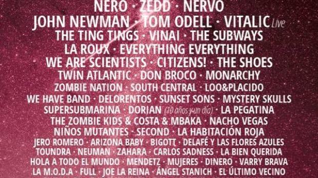 Cartel del Festival Arenal Sound 2015
