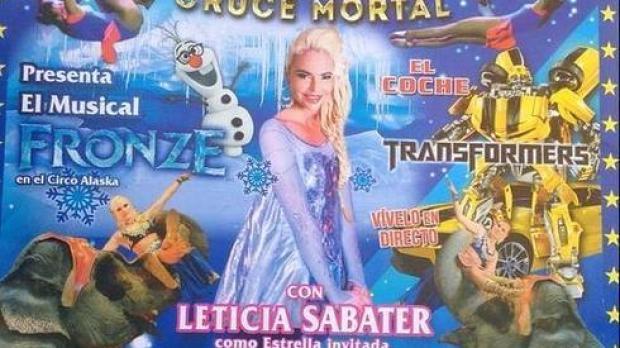 Leticia Sabater en el cartel del Circo Alaska